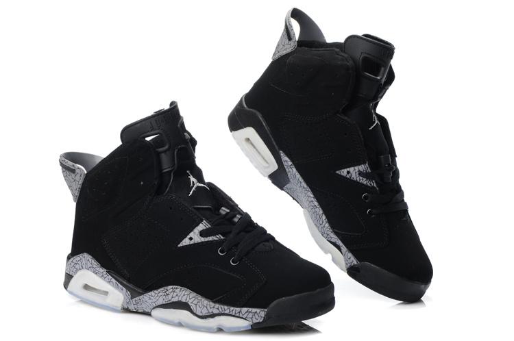 New Air Jordan Retro 6 Black Grey Shoes