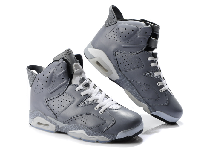 New Air Jordan Retro 6 Grey White Shoes