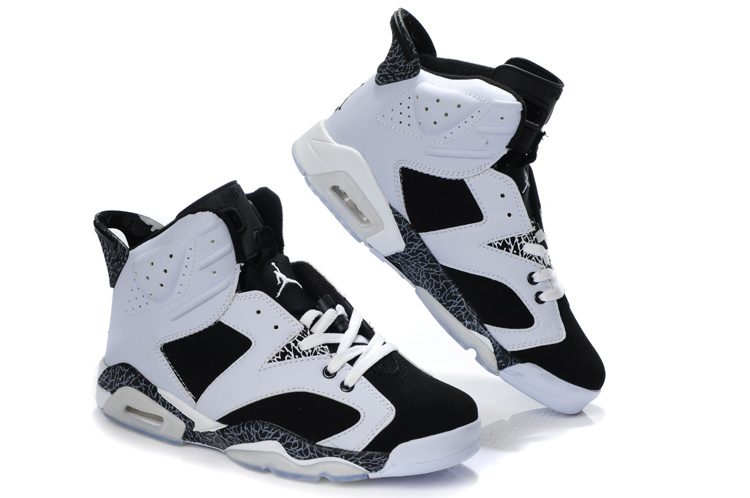 New Air Jordan Retro 6 White Black Cement Shoes