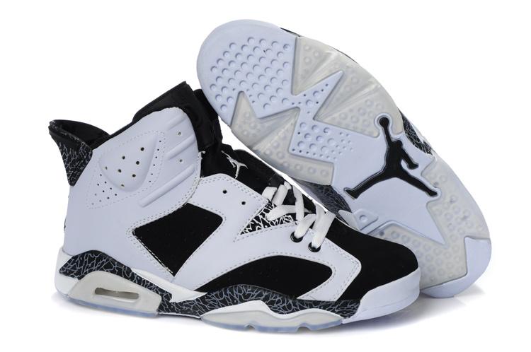 New Air Jordan Retro 6 White Black Cement Shoes