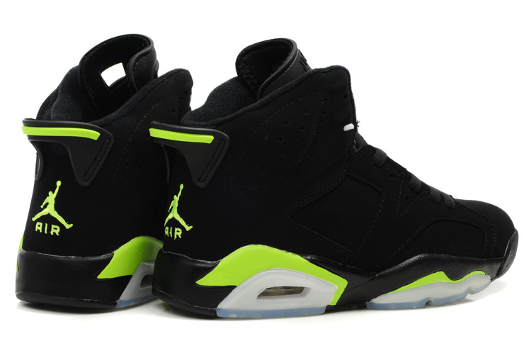 New Air Jordan Retro 6 White Black Green Shoes