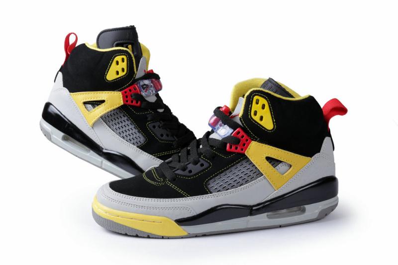 New Air Jordan Spizike Black Grey Yellow Shoes