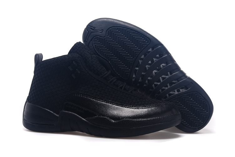 2015 All Black Jordan 12 Future Retro Shoes