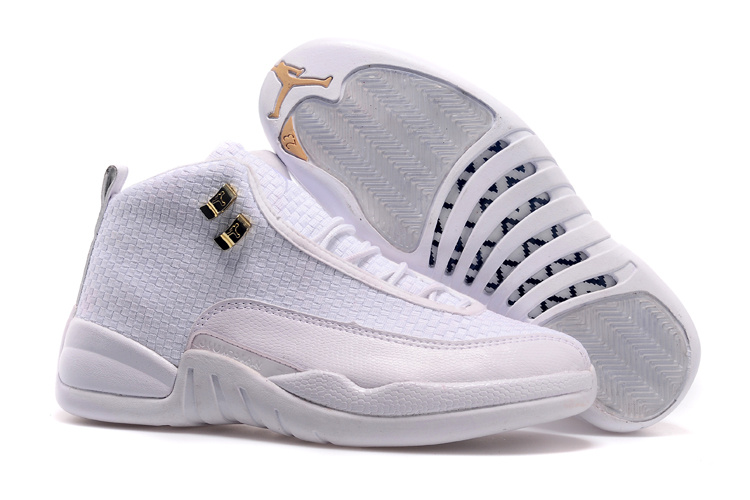 2015 All White Jordan 12 Future Retro Shoes