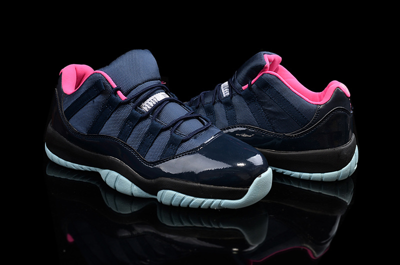 New Air Jordan 11 Black Pink Shoes