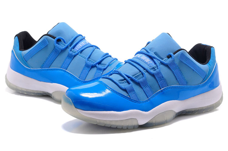 New Jordan 11 Low Blue White Shoes