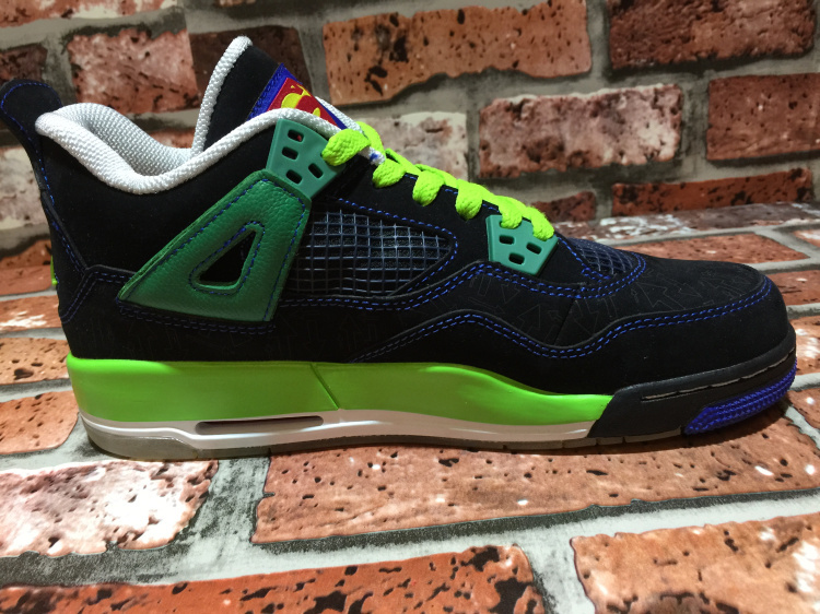 2015 Air Jordan 4 Super Man Black Green For Women