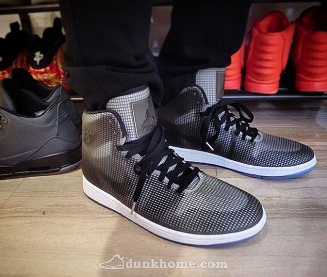 2015 Air Jordan 4LAB1 Black Grey Shoes