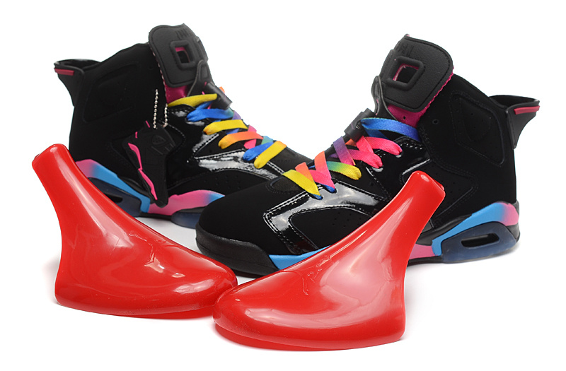 New Jordan 6 Retro Black Colorful Shoes