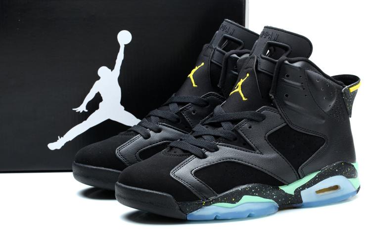 New Jordan 6 World Cup Brazil Black Green Shoes