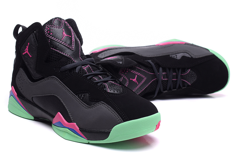 1f140b99af0 New Air Jordan 7 Black Pink Green Shoes For Women [814032] - $77.00 ...