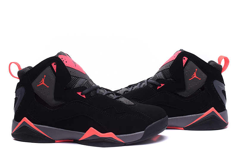 New Air Jordan 7 Black Red Shoes For Women