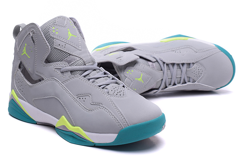 New Air Jordan 7 Grey Green Shoes For Women