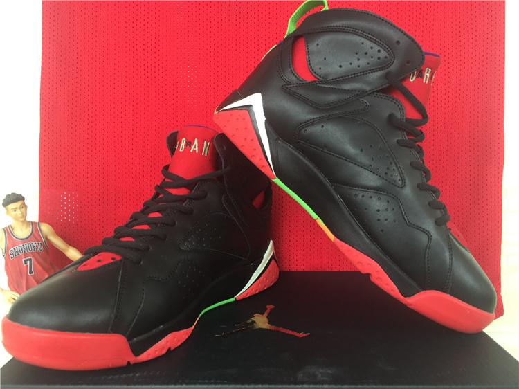 2015 Air Jordan 7 Retro Black Red Green