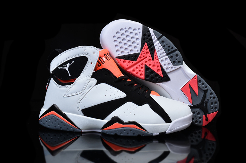 New Jordan 7 White Black Pink Shoes For Women