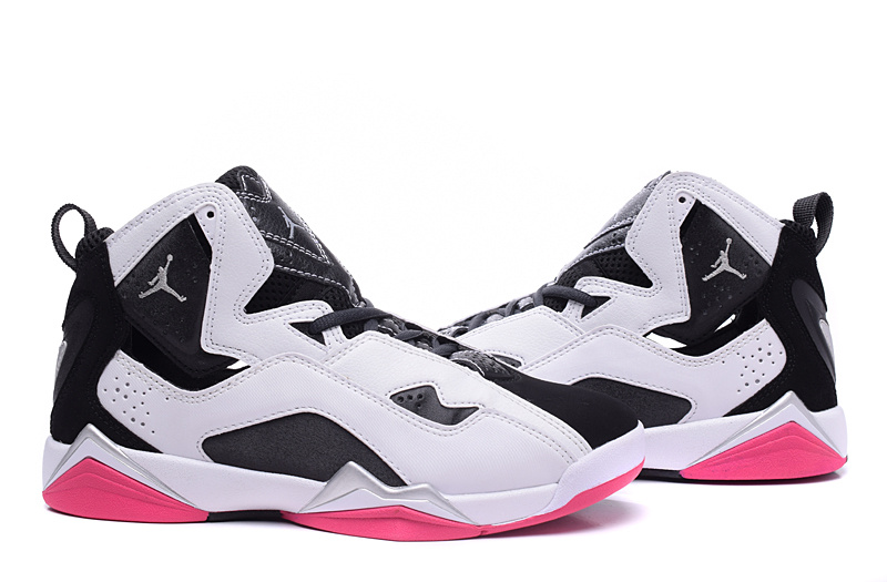 New Air Jordan 7 White Black Red Shoes For Women