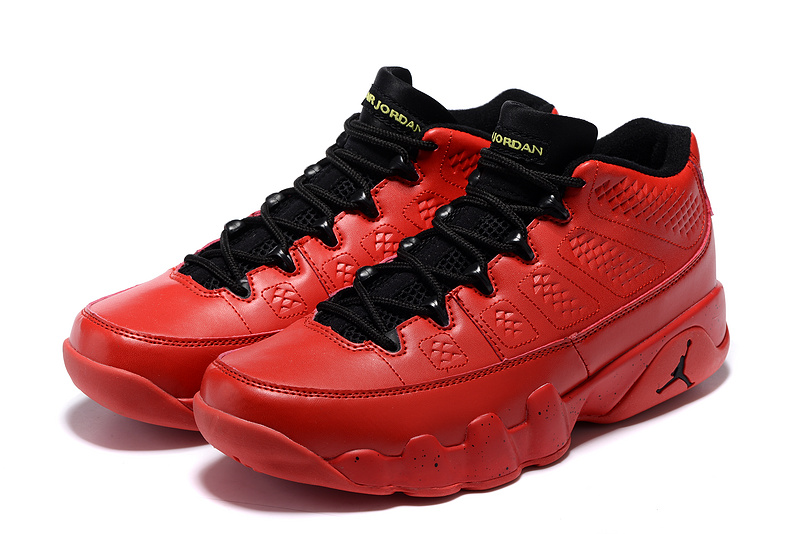 New Jordan 9 Low Red Black