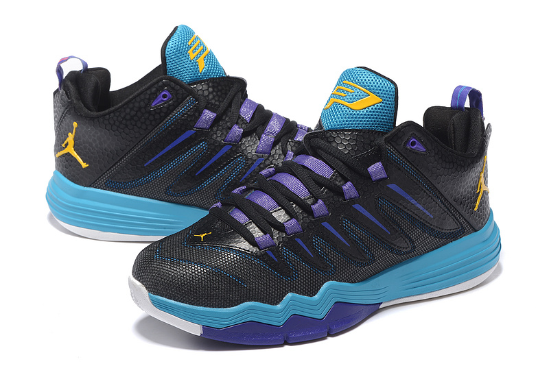 2016 air jordan cp3 ix black purple blue yellow shoes