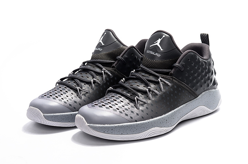 2016 Jordan Extra Fly Black Grey Basketball Shoes