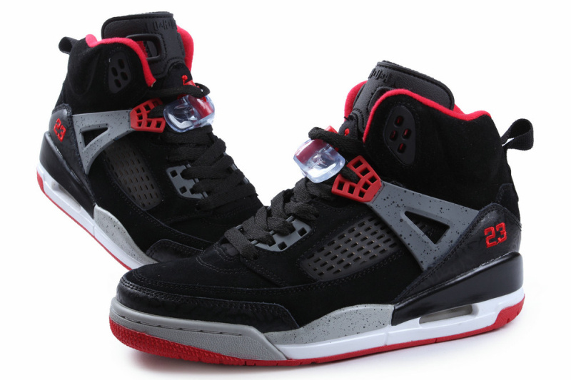 New Jordan Spizike Black Grey Red Shoes
