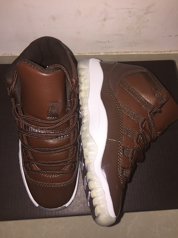 2017 Kid's Jordan 11 Retro Coffe Shoes