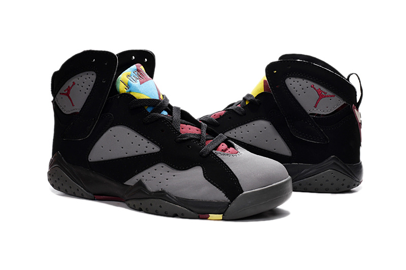 2015 Air Jordan 7 Retro Grey Black Red Shoes
