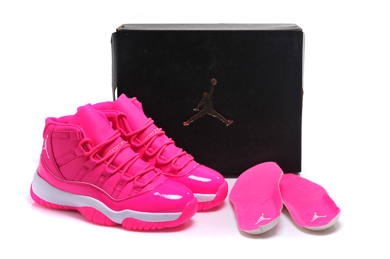 New Women Air Jordan 11 Pink Shoes