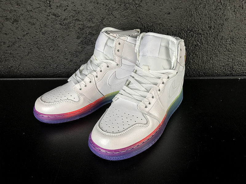 2017 Women Jordan 1 White Rainbow