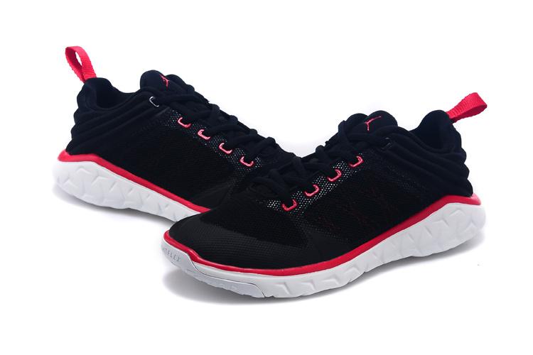 2015 Women Jordan Running Shoes Black Red White
