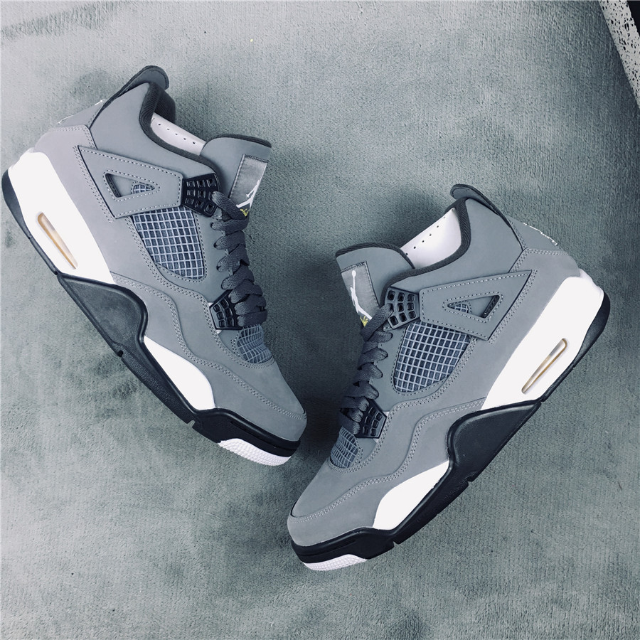 2019 Air Jordan 4 Retro Grey Deer Leather