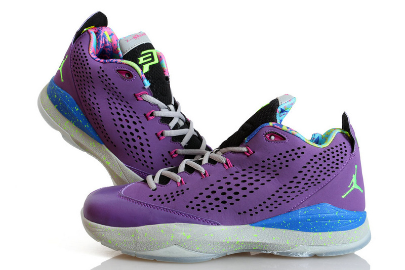 Nike Jordan CP3 7 Purple Blue White Shoes