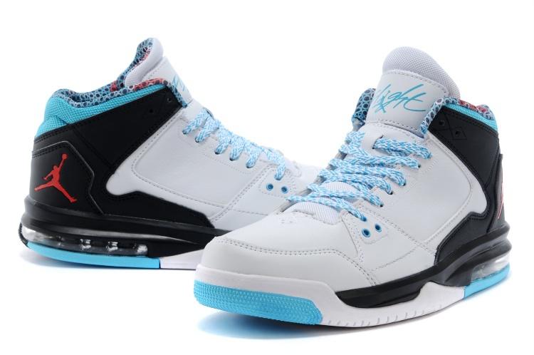 Nike Jordan Flight Origin White Light Blue Black Basketball Shoes