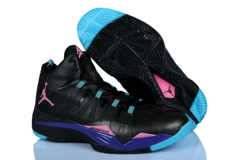 Nike Jordan Griffin Supper Fly 2 Black Pink Blue Basketball Shoes