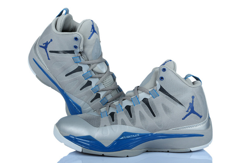 Nike Jordan Griffin Supper Fly 2 Grey Silver Blue Basketball Shoes