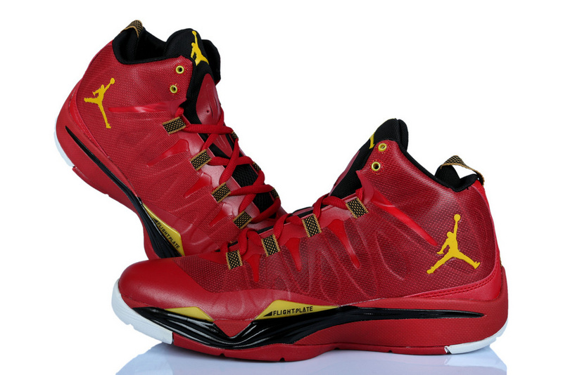 Nike Jordan Griffin Supper Fly 2 Red Yellow Black Basketball Shoes