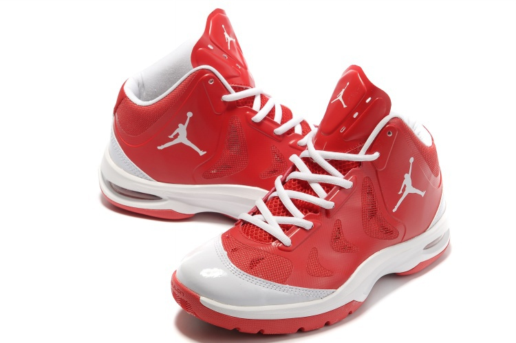 Nike Jordan Play In These Red White Basketball Shoes