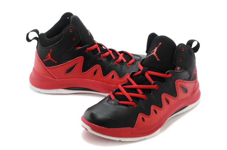 Nike Jordan Prime Mania X Black Red Basketball Shoes