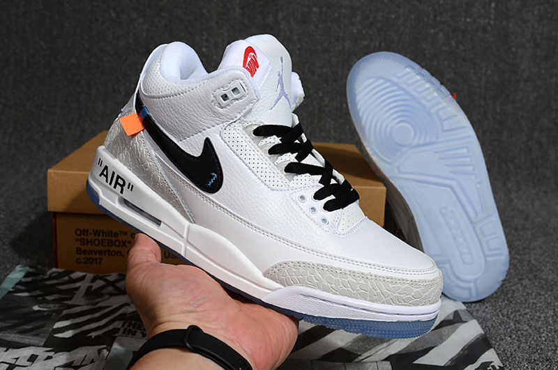 Off-white Air Jordan 3 White Black Shoes