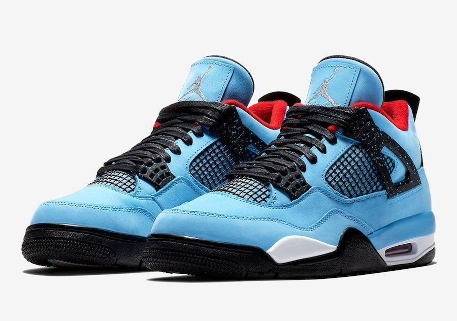 Off-white Air Jordan 4 All Blue Black Red Shoes