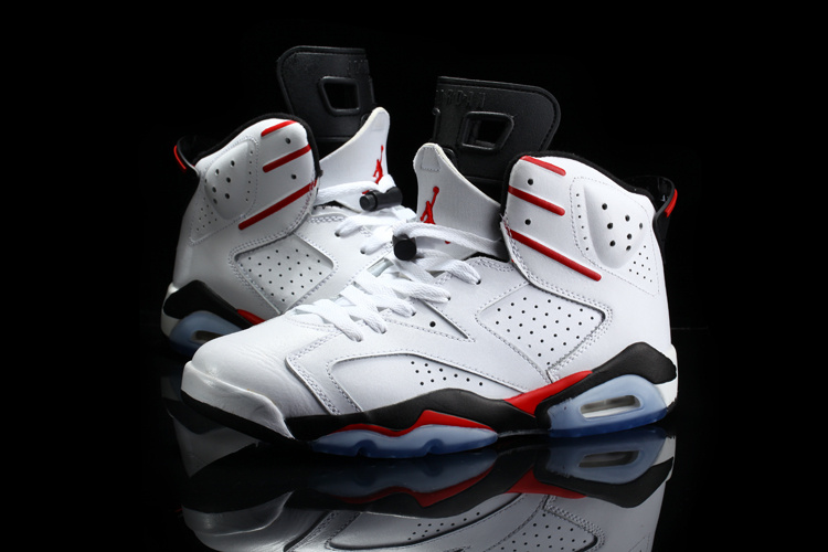 2015 Air Jordan 6 Retro White Red Black