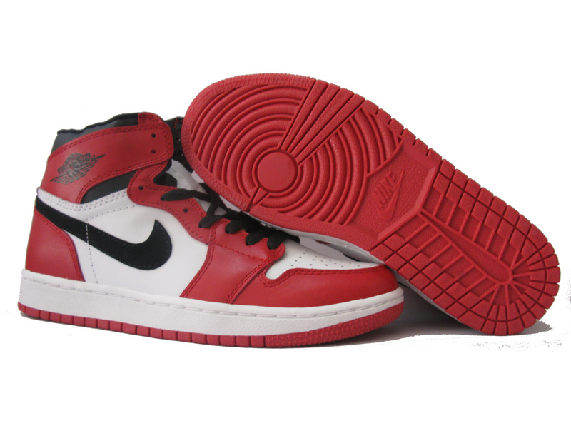 Original Air Jordan 1 Red White Black Shoes