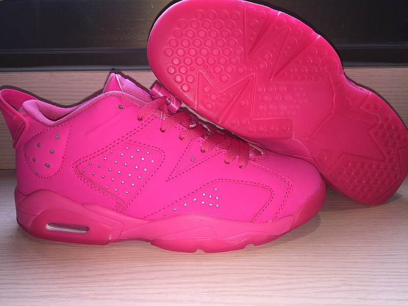 2015 Air Jordan 6 Low All Pink Shoes