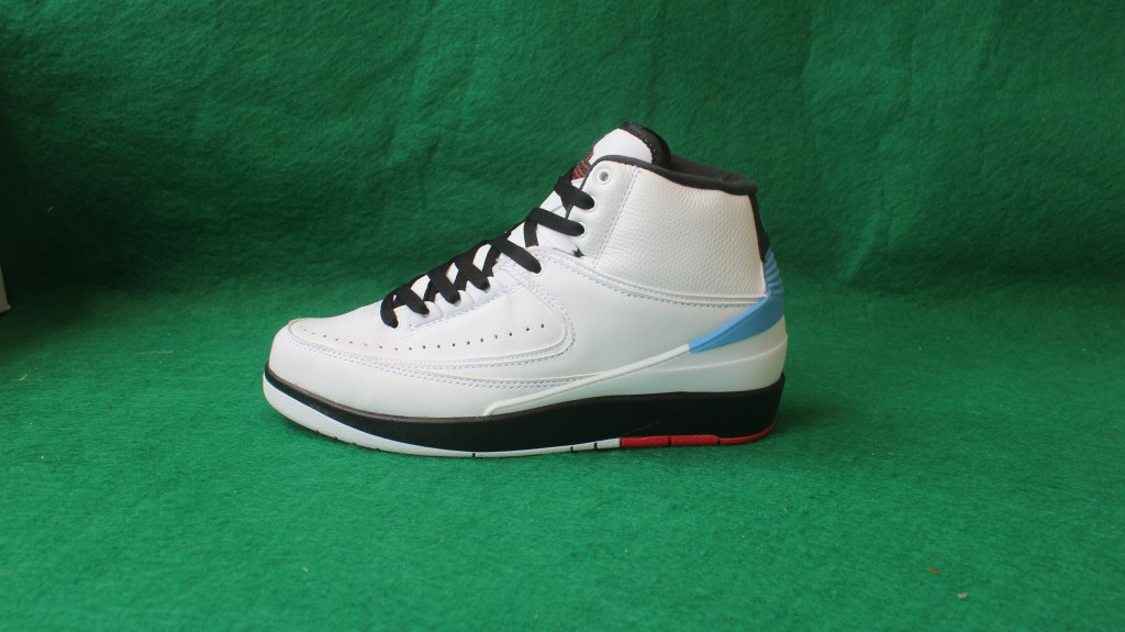 Sup New Air Jordan 2 Pro Leather White Black Red Shoes