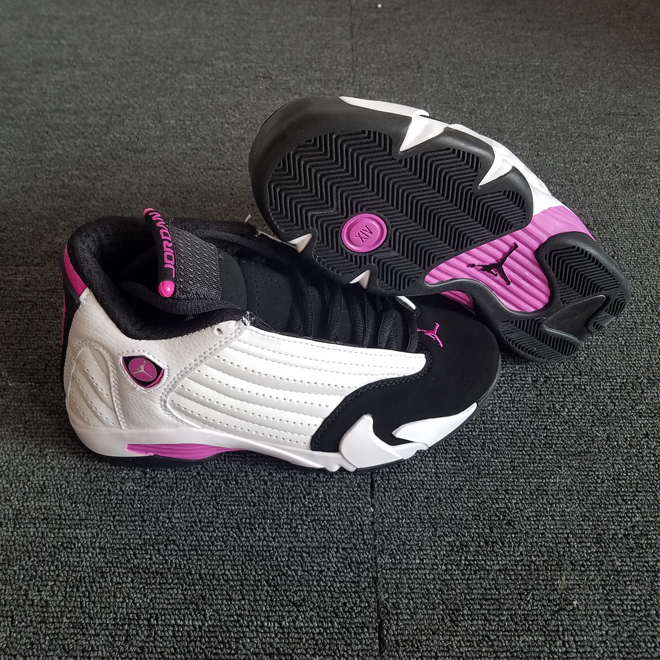 competitive price 2c32e d9407 ... germany women air jordan 14 retro white pink black shoes e3b57 3f518