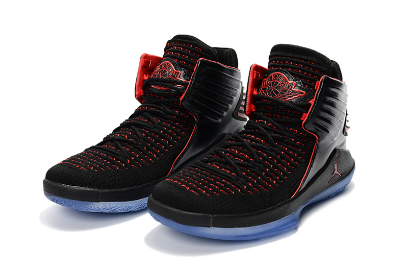 2018 Women Air Jordan 32 Black Red Ice Sole