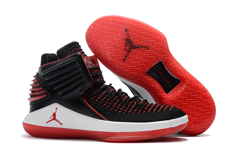 2018 Women Air Jordan 32 Black Red White