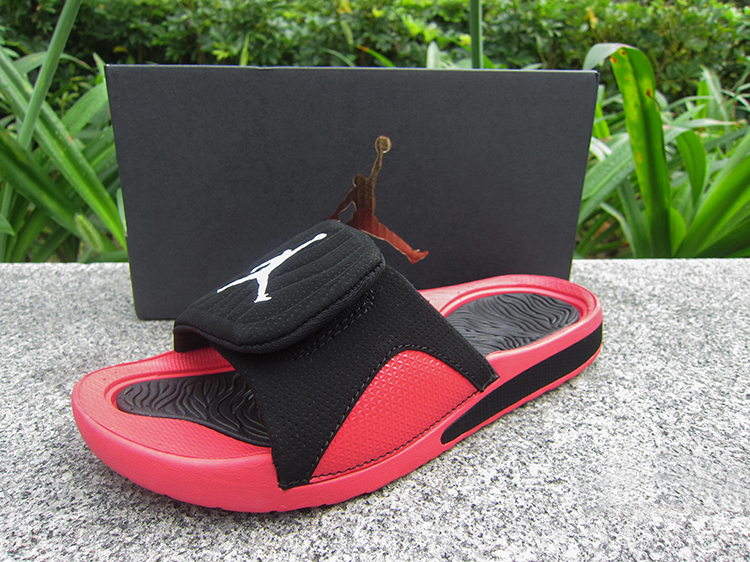 Women Jordan Hydro V Retro Black Red