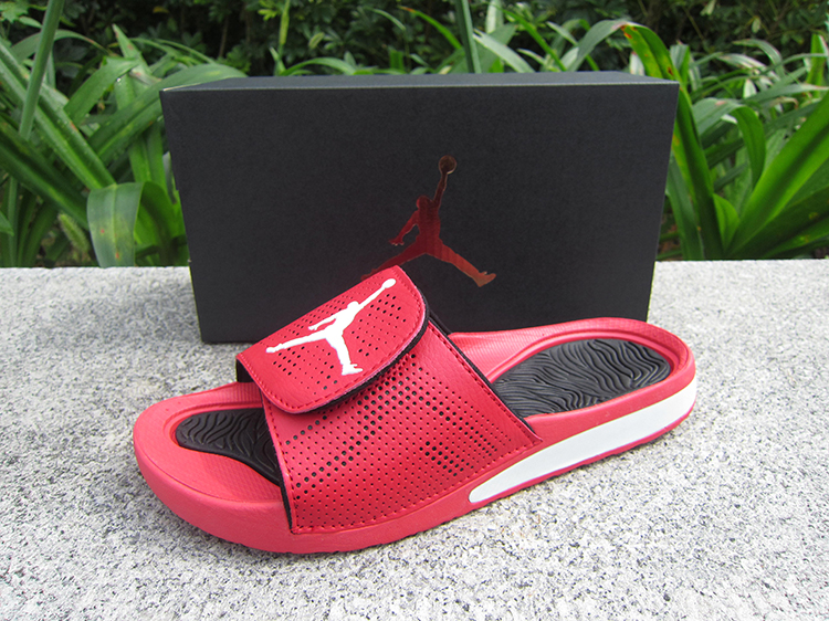 Women Jordan Hydro V Retro Red Black White