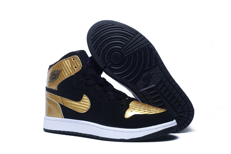 2015 Women Air Jordan 1 Retro Black Copper Shoes