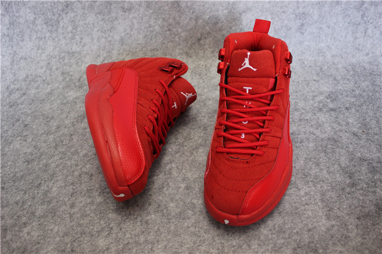 2017 Women Jordan 12 All Red Shoes